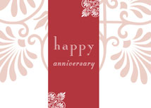 Beautiful Flourishes Anniversary Card